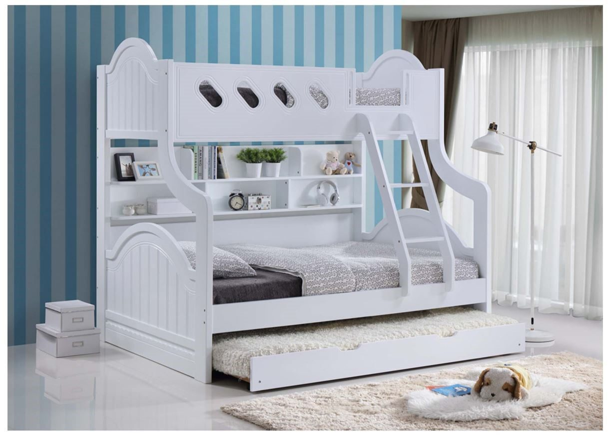 Picture of: Skye Bunk Bed Single Double With Trundle Rise Shine
